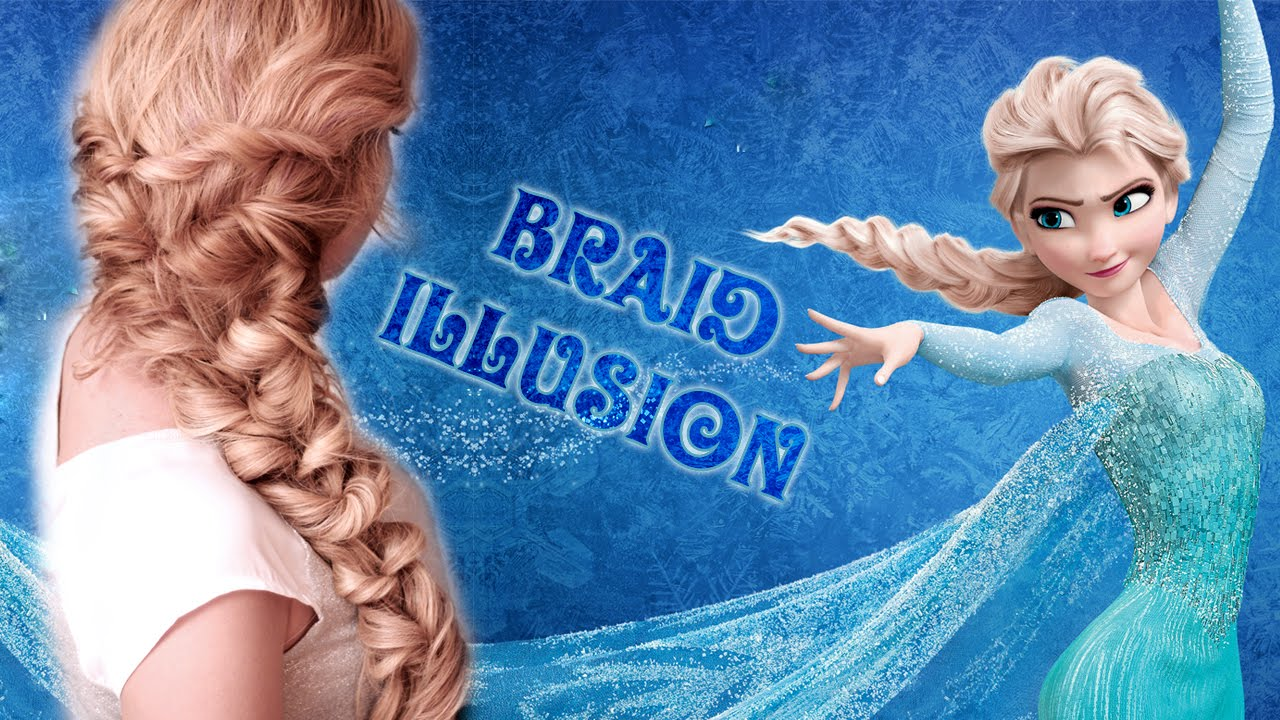 Frozens Elsa Braid Hair Tutorial Hairstyle For Mediumlong Hair