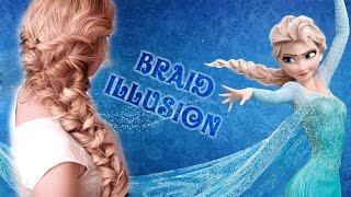 vuclip Frozen's Elsa braid hair tutorial  ❤ Hairstyle for medium/long hair with extensions