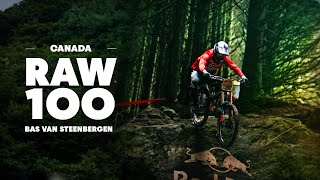 Bas van Steenbergen Charges Trail in British Columbia | Raw 100
