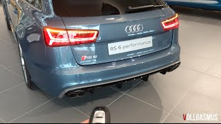 Audi RS6 Performance Polar Blue Audi Exclusive In Depth, Interior, Lights, Indicators and more