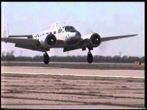 C-45 Beech Baby Doing A Touch And Go