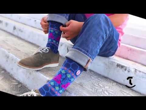 Los calcetines diseñados y creados para Cucuruchos