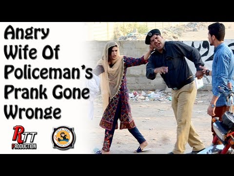 Angry Wife Of Policeman's Prank By Shakeel Ahmed & Bushra   Directed by Ali Rayan