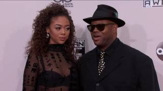 Bella Harris and Jimmy Jam Fashion - AMAs 2016
