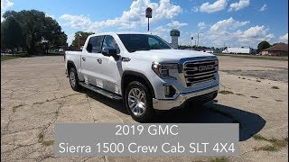 2019 GMC Sierra 1500 Crew Cab SLT Premium Plus 4X4|Walk Around Video|In Depth Review|Test Drive