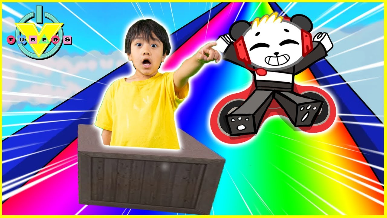 6e5182c70872 Roblox SLIDE DOWN STUFF in a Rainbow Box Let s Play with VTubers Ryan  ToysReview Vs Combo Panda