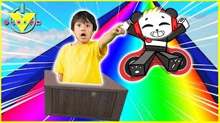 Roblox SLIDE DOWN STUFF in a Rainbow Box Let