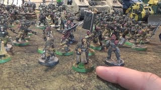 In this 3000 points game The Ultramarines are facing a big massive ...