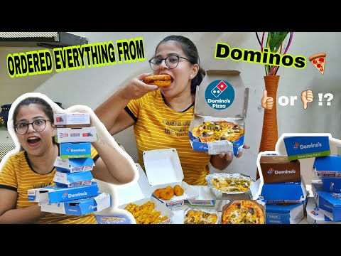 """I ORDERED EVERYTHING FROM DOMINO'S? 