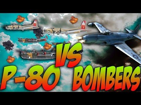 War Thunder JETS! P-80 VS BOMBERS! - War Thunder Jet Gameplay