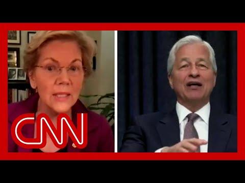 Elizabeth Warren confronts JPMorgan CEO during heated testimony