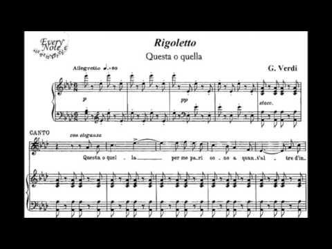 Questa o quella KARAOKE Giuseppe Verdi - Rigoletto