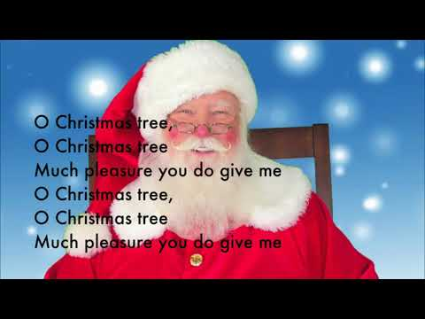 Oh Christmas Tree -   With Lyrics - (Sing-Along)  ✅