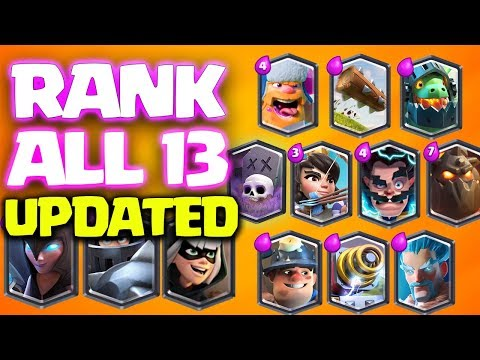 UPDATED! Ranking All 13 Legendary Cards in Clash Royale