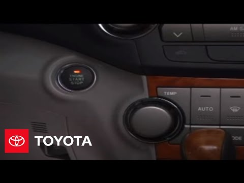 2007 - 2009 Highlander How-To: Emergency Start Function | Toyota