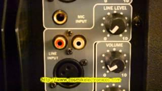 Bocinas Amplificadas    Cosmik Electronicos   Bocinas con Amplificador Interno
