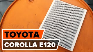 Cum se inlocuiesc filtru de habitaclu pe TOYOTA COROLLA E120 TUTORIAL | AUTODOC
