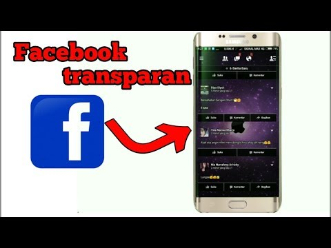 tutorial Facebook transparan