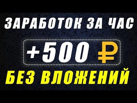 КАК ЗАРАБОТАТЬ 500 РУБЛЕЙ БЕЗ ВЛОЖЕНИЙ. СПОСОБ ЗАРАБОТАТЬ ДЕНЬГИ В ИНТЕРНЕТЕ