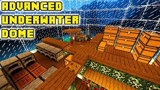 Minecraft: Underwater Dome House Tutorial (How to Build)