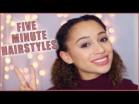 5 Minute Hairstyles for Curly-Haired Girls