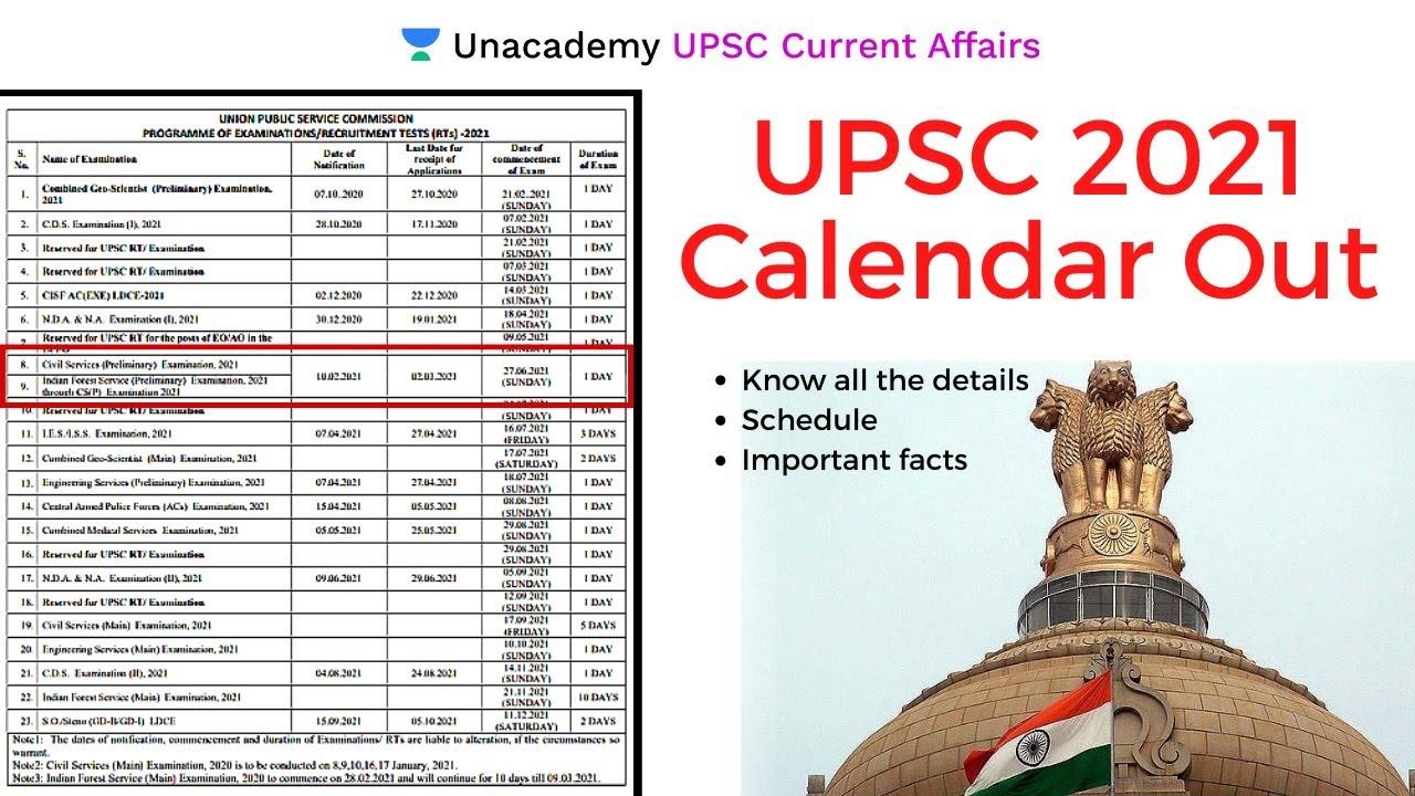 Uisd Calendar 2022 2023.Important News Upsc 2021 Calendar Released By Aman Sharma Youtube