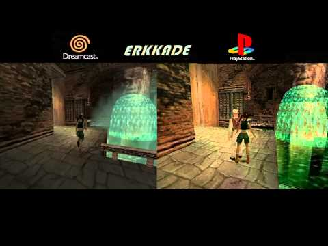 comparison tomb raider the last revelation dc vs ps1