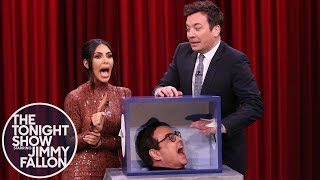 Kim Kardashian West and Jimmy take turns sticking their hands inside boxes filled with mystery objects that they have to identify without looking at them.  Subscribe NOW to The Tonight Show Starring Jimmy Fallon: http://bit.ly/1nwT1aN  Watch The Tonight Show Starring Jimmy Fallon Weeknights 11:35/10:35c Get more Jimmy Fallon:  Follow Jimmy: http://Twitter.com/JimmyFallon Like Jimmy: https://Facebook.com/JimmyFallon  Get more The Tonight Show Starring Jimmy Fallon:  Follow The Tonight Show: http://Twitter.com/FallonTonight Like The Tonight Show: https://Facebook.com/FallonTonight The Tonight Show Tumblr: http://fallontonight.tumblr.com/  Get more NBC:  NBC YouTube: http://bit.ly/1dM1qBH Like NBC: http://Facebook.com/NBC Follow NBC: http://Twitter.com/NBC NBC Tumblr: http://nbctv.tumblr.com/ NBC Google+: https://plus.google.com/+NBC/posts  The Tonight Show Starring Jimmy Fallon features hilarious highlights from the show including: comedy sketches, music parodies, celebrity interviews, ridiculous games, and, of course, Jimmy's Thank You Notes and hashtags! You'll also find behind the scenes videos and other great web exclusives.  Jimmy and Kim Kardashian West Freak Out Touching Mystery Objects http://www.youtube.com/fallontonight  #FallonTonight #KimKardashianWest #JimmyFallon