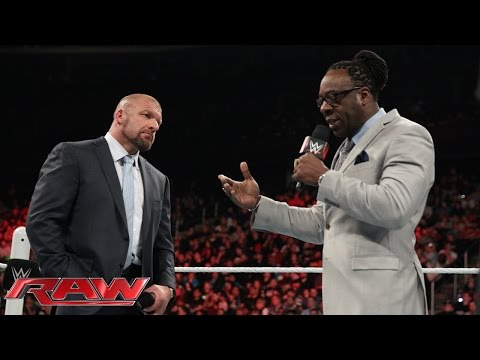 Triple H calls out Booker T: Raw, March 2, 2015