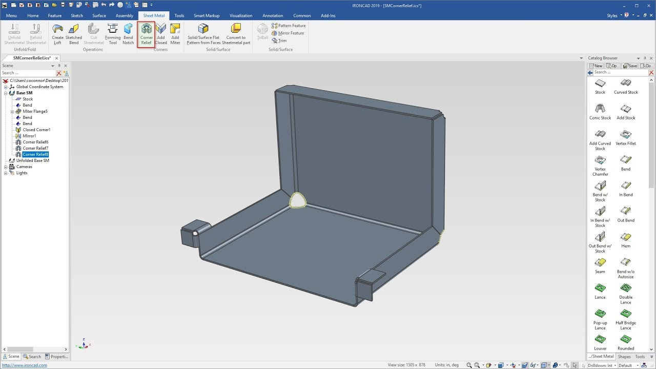 Sheet Metal Corner Relief Tools Cad Design Tools Youtube
