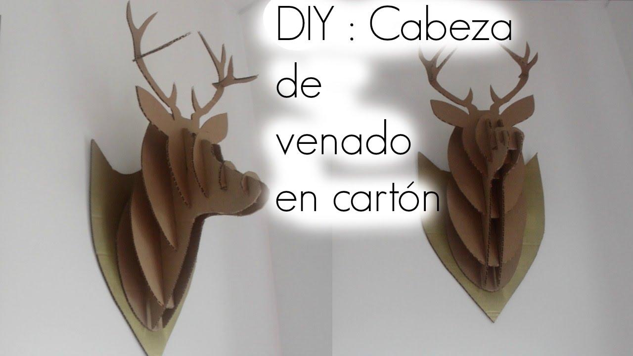 DIY : Cabeza de venado 3D en carton / DIY Cardboard Deer Head ...