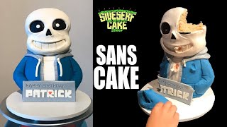 HOW TO MAKE A SANS CAKE | Undertale Lookalike Challenge