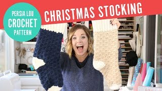 Crochet Christmas Stocking - Free Crochet Stocking Pattern
