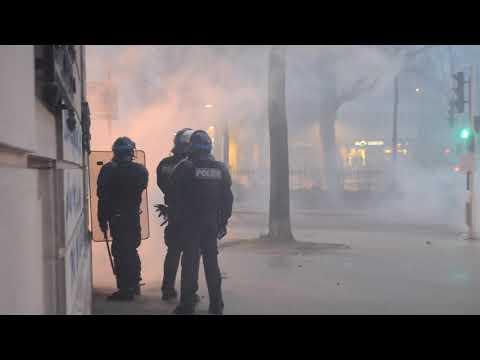 Gilets Jaunes acte 9 : A Dijon, les forces de l'ordre visées par des tirs de feux d'artifice