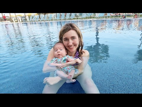 Newborn Baby Goes Swimming | Myrtle Beach Vacation Part 3
