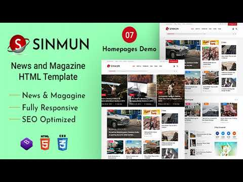 Sinmun - News And Magazine HTML Template | Themeforest Website Templates And Themes