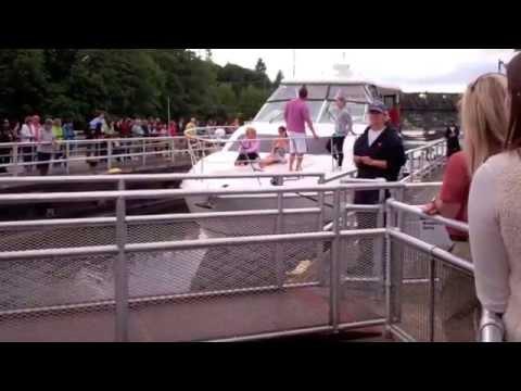 Ships navigate Ballard Locks from the Puget Sound
