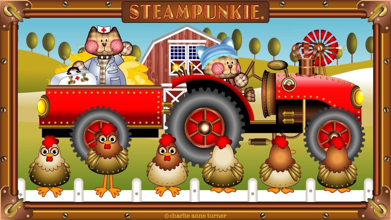 The Farmer In The Dell | Kids Songs | Steam Punkie