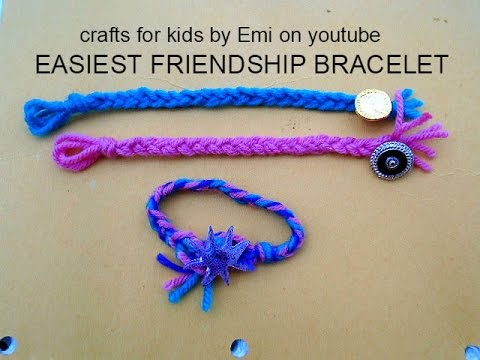 Jewelry Easiest Friendship Bracelet Crafts For Kids By Emi Youtube