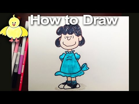 Drawing: How To Draw Lucy From The Peanuts Step By Step
