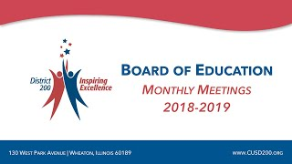 CUSD200: Board of Education Meeting: July 11, 2018
