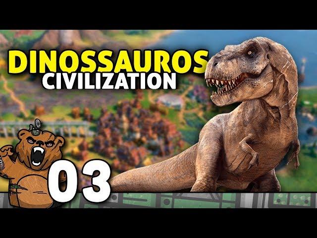 Um dinossauro comeu minha internet | Civilization 6 #03 - Gameplay PT-BR