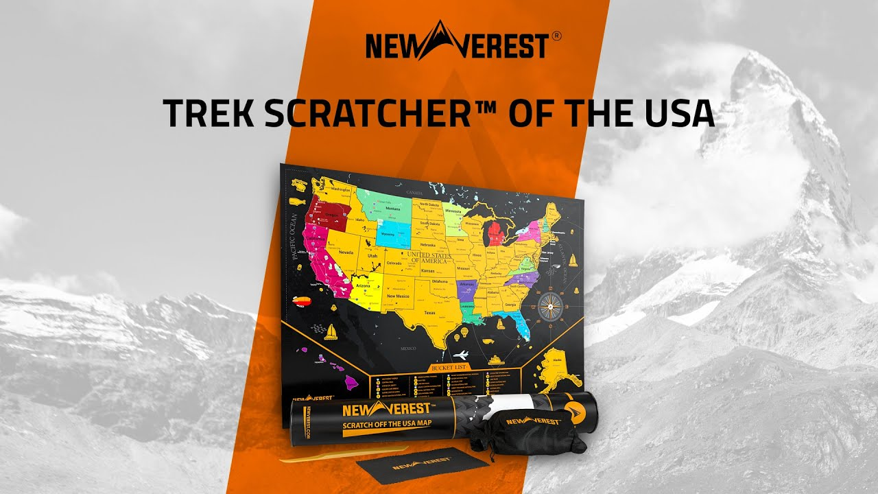 Scratch off Map of the United States by Newverest - YouTube