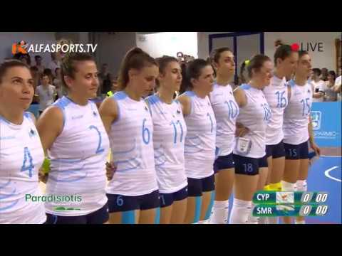 030617    CYPRUS   SMR  VOLLEY WOMEN   Gold medal match