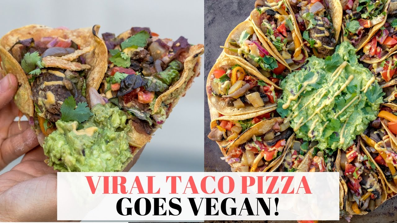 BEST Vegan Taco Pizza - Viral Taco Pizza Goes VEGAN!