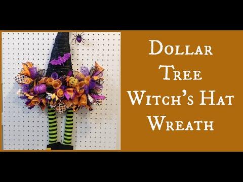 Dollar Tree Witch's Hat Wreath