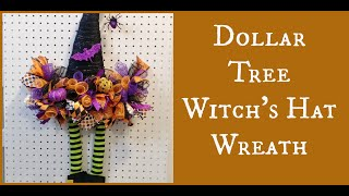 Dollar Tree Witch's Hat Wreath