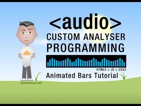 Analyser Bars Animation HTML5 Audio API JavaScript Tutorial