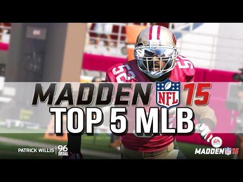 Madden 15 - Top 5 MLBs - Patrick Willis 99 Hit Power?! - Madden 15 Player Ratings