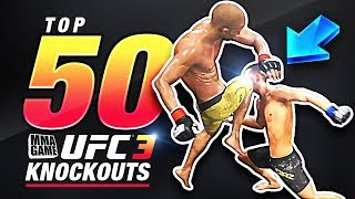 EA SPORTS UFC 3 BETA  - TOP 50 KNOCKOUTS - Community KO Video